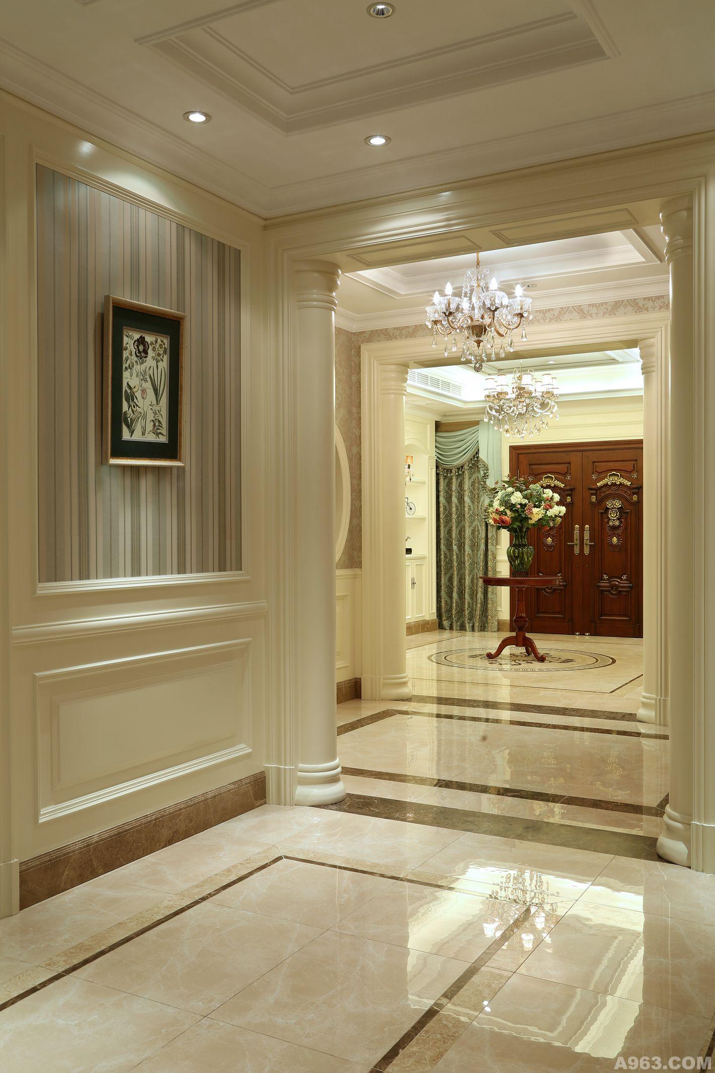 主要材料: 仿古砖,多层实木地板,墙纸,护墙板